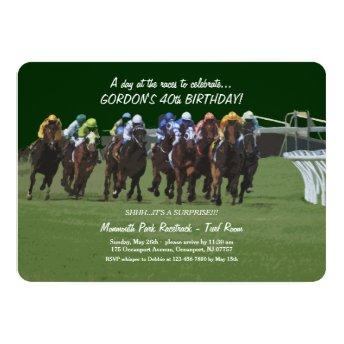 Derby Inspiration Birthday Horse Racing Invitation
