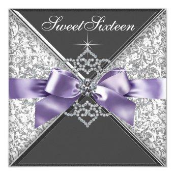Diamonds Purple and Black Sweet 16 Birthday Party