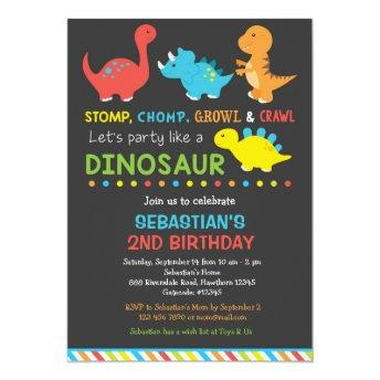 Dino birthday invitation, Dinosaur Invitation