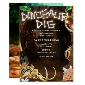 DINOSAUR DIG Bones Mystery Cave Birthday Party