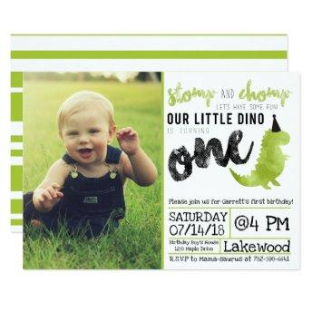 Dinosaur Invitation Stomp And Chomp First Birthday