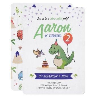 Dinosaur Invitation, Boys birthday Invitation