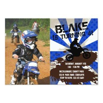 Dirt Bike Birthday Invitation