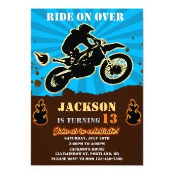Dirtbike birthday invitation Motocross party boy
