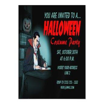 Dracula Invites for Halloween Party