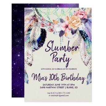 Dream-catcher Slumber Party Invitation