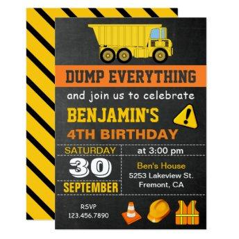 Dump Truck Construction Birthday Party