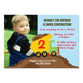 Dump Truck Construction Boy Birthday Party Photo
