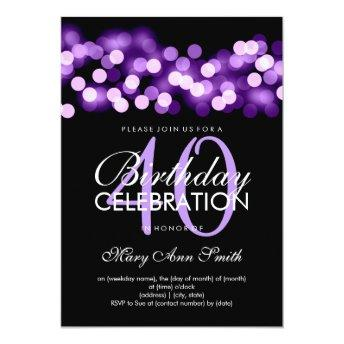 Elegant 40th Birthday Party Purple Hollywood Glam