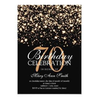Elegant 70th Birthday Party Gold Midnight Glam