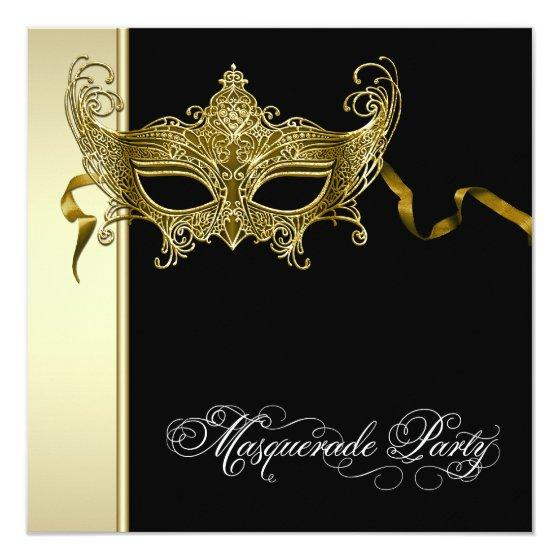 247 Elegant Black Gold Masquerade Party