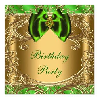 Elegant Emerald Green and Gold Birthday Party