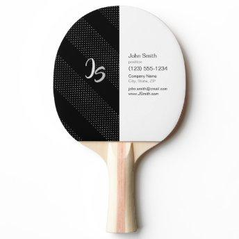 Elegant Gift with Personalize Silver Monogram Ping Pong Paddle