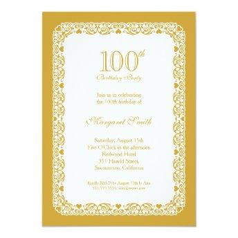 Elegant golden 100th birthday party