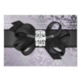 Elegant Lavender and Silver RSVP with Bow