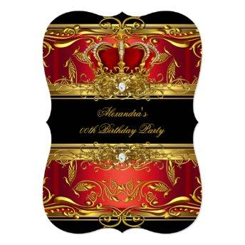 Elegant Regal Red Black Gold Queen Birthday Party
