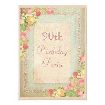 Elegant Vintage Roses 90th Birthday Party