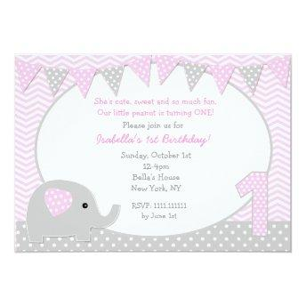 Elephant First Birthday Party