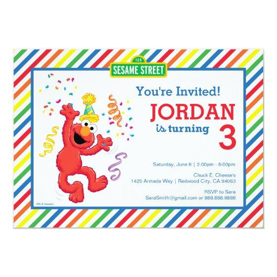 Elmo Striped Birthday