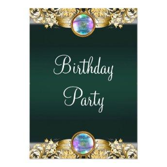 Emerald Green Gold Womans Birthday Party