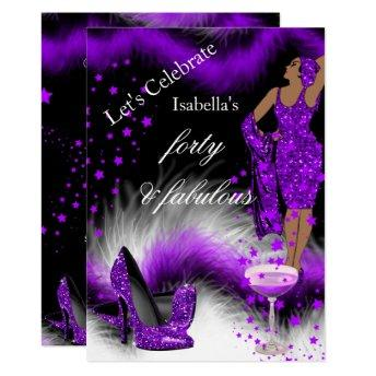 Fabulous 40 Lady Purple Champagne Birthday Party