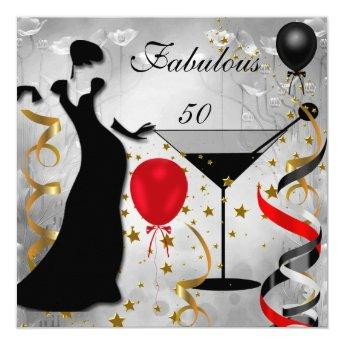 Fabulous 50 50th Birthday Party Deco Lady Red 2