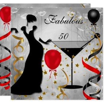 Fabulous 50 50th Birthday Party Deco Lady Red