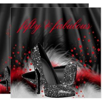Fabulous 50 Red Black High Heels Birthday Party