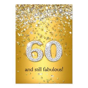 Fabulous 60 Gold Silver Streamers 60th Birthday