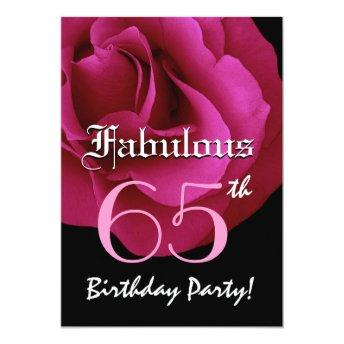 65th Birthday Invitations Page 15 Party