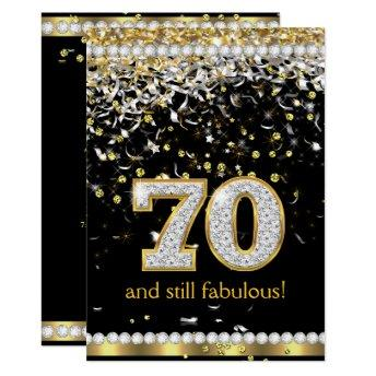 Fabulous 70 Gold Silver Streamers 70th Party