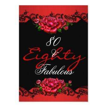 Fabulous 80 80th Birthday Party Red Roses