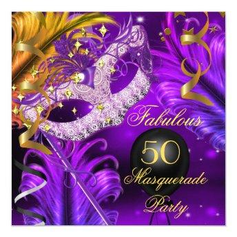 Fabulous Birthday Purple Gold Masquerade Party 2