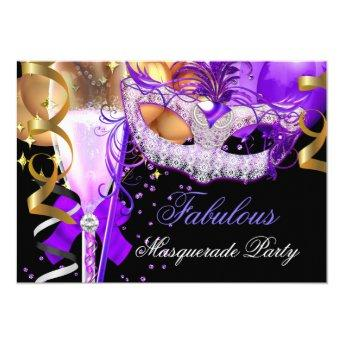 Fabulous Purple Gold Black Masquerade Party 3
