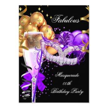 Fabulous Purple Gold Black Masquerade Party 4