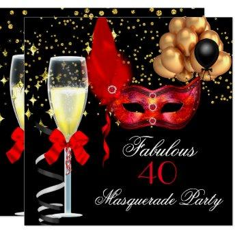 Fabulous Red Gold Black Masquerade Party