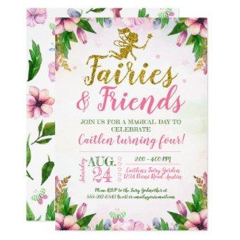 Fairy Garden Magical Enchanted Floral Birthday Invitation