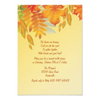 Fall Impression Invitation