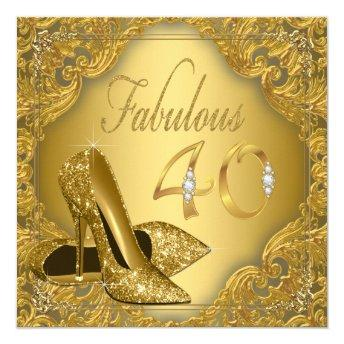 Fancy Gold High Heel Fabulous 40th