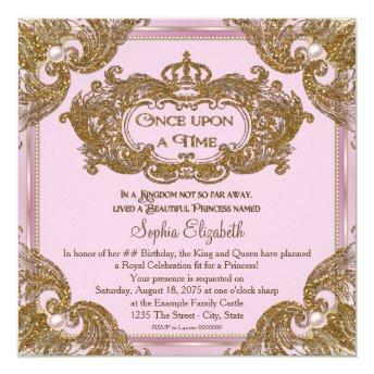 Fancy Once Upon a Time Birthday Party Invitation