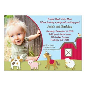 Farm Animal Neutral Photo Birthday