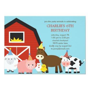 Farm Animals Birthday Party
