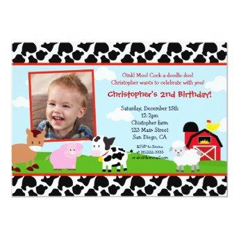 Farm Barnyard Birthday Invitation