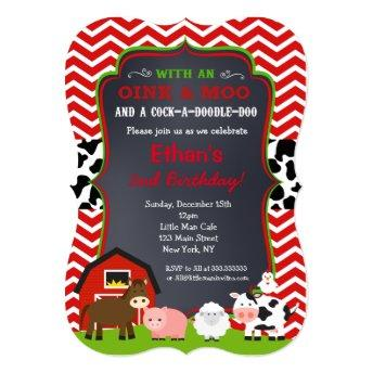 Farm Barnyard Birthday Party Invitation