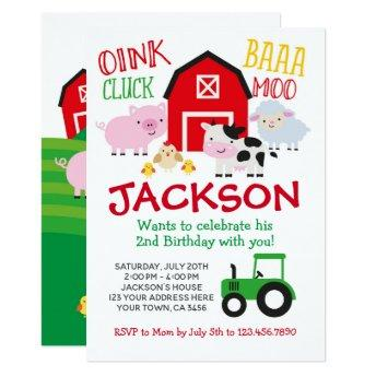 Farm Birthday Invitation