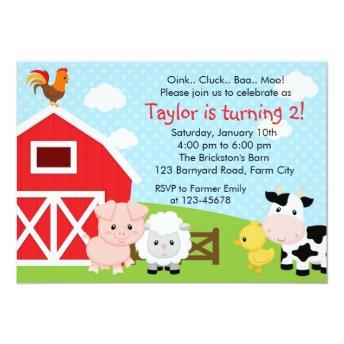 Farm Birthday  - Boy (Blue) - Barnyard