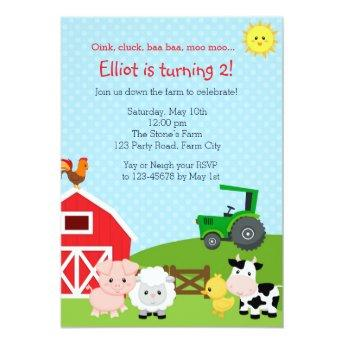 Farm Birthday  with Green Tractor (Barn)