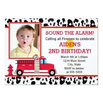 Fire Truck Birthday Party  Photo