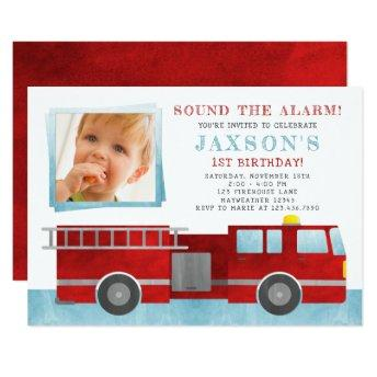 Firetruck Birthday Party Photo