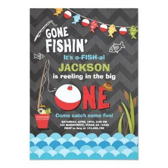 Fishing Birthday Invitation Reeling The big one